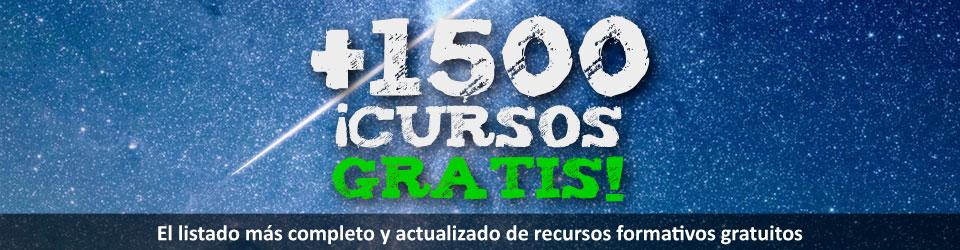 Cursos gratis online, listado completo con más de 1000 referencias