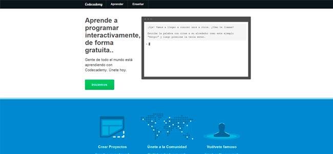 Codecademy: aprende a programar gratis online