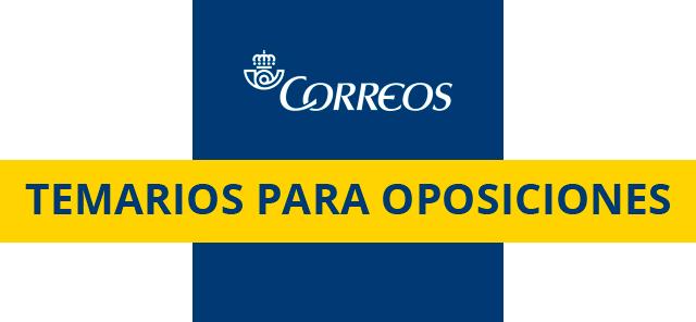 Temario Oposiciones Correos 2018
